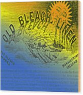 Colorful Old Bleach Linen Ad Wood Print