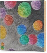 Colorful Orbs Wood Print