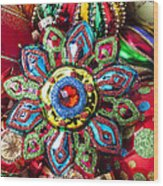 Colorful Ornaments Wood Print