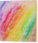 Colorful Painting Pattern Wood Print