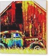 Colorful Past Wood Print