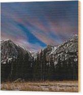 Colorful Peaks Wood Print