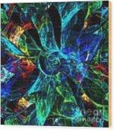 Colorful Petals Wood Print