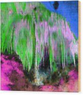 Colorful Phosphorescent Cave Wood Print