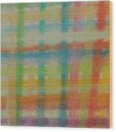 Colorful Plaid Wood Print