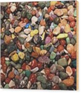 Colorful Polished Stones Wood Print