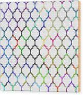 Colorful Quatrefoil Wood Print