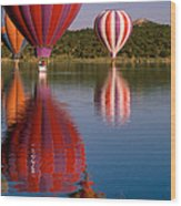 Colorful Reflection Wood Print