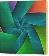 Colorful Ribbons Wood Print