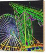 Colorful Rides Wood Print by Thomas  MacPherson Jr