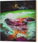 Colorful River Wood Print