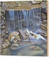 Colorful Rocks And Water Wood Print