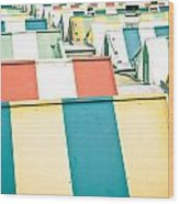 Colorful Roofs Wood Print