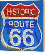 Colorful Route 66 Wood Print