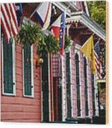 Colorful Row Houses Wood Print