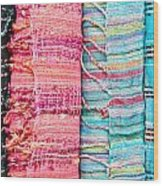 Colorful Scarves Wood Print