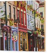 Colorful Shops Wood Print