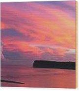 Colorful Sky -tumon Bay Guam Wood Print