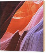 Colorful Slot Canyon Wood Print