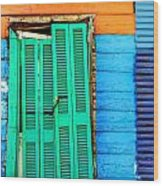 Colorful Slum Wood Print