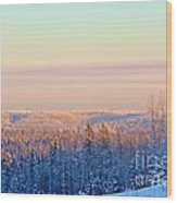Colorful Snow Valley Wood Print