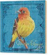 Colorful Songbirds 4 Wood Print