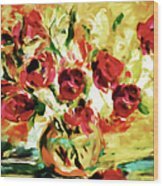 Colorful Spring Bouquet - Abstract  Wood Print