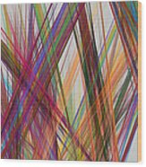 Colorful Straight Line Fractal Flame Wood Print