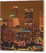 Colorful Summer Night In Pittsburgh Wood Print