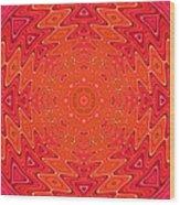 Colorful Sun Mandala Wood Print