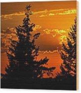 Colorful Sunset II Wood Print