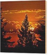 Colorful Sunset IIl Wood Print