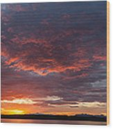 Colorful Sunset, Snaefellsnes Wood Print