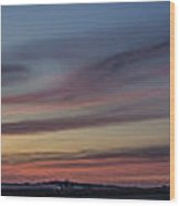 Colorful Sunset Spring 2013 Wood Print
