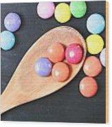 Colorful Sweets Wood Print