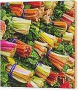 Colorful Swiss Chard Wood Print