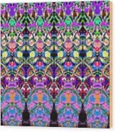 Colorful Symmetrical Abstract Wood Print
