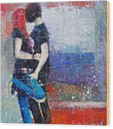 Colorful Teen Together For Ever  Wood Print by Johane Amirault