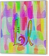 Colorful Texturized Alphabet Ll Wood Print