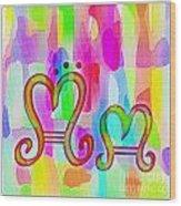 Colorful Texturized Alphabet Mm Wood Print