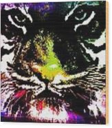 Colorful Tiger Abstract Grunge Face Wood Print
