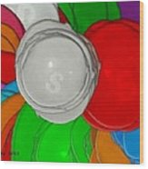 Colorful Toilet Seats Wood Print