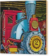 Colorful Train Wood Print