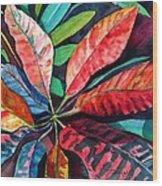 Colorful Tropical Leaves 2 Wood Print