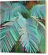 Colorful Tropical Leaves In The Jungle Wood Print