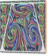 Colorful Twirl Wave Shield Design Background Designs  And Color Tones N Color Shades Available For D Wood Print