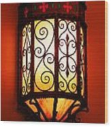 Colorful Vibrant Red Green Gothic Sconce Light Wood Print