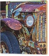 Colorful Vintage Car Wood Print