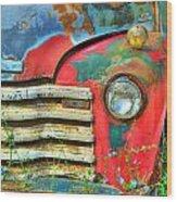 Colorful Vintage Truck Wood Print
