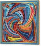 Colorful Waves Wood Print